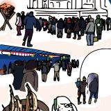 ポストカードイラスト「只見ふるさとの雪まつり <雪まつり会場>」