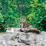 ポストカードイラスト「恵みの森 <一枚岩の沢歩き>」