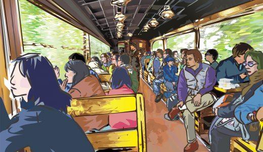 View Coaster Kazekko Aizu-Tadami Scenic Railway -201010-