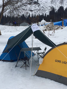 ミニ雪像 2016 雪上キャンプ(雪中野営) 1日目 その2