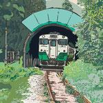 今回のイラストを「2011年9月の雨宿り」に更新しました。