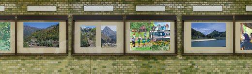 イラスト/写真展示@三田駅 第二弾 展示シミュレーション その3