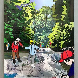今回のイラストを「只見町ブナセンター 夏版 ポスターイラスト」に変更しました。