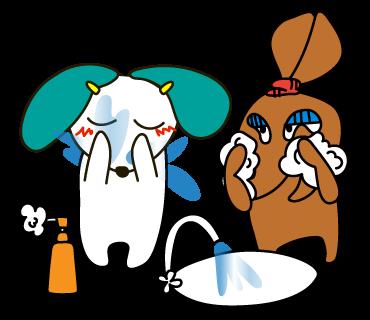 02_顔洗い