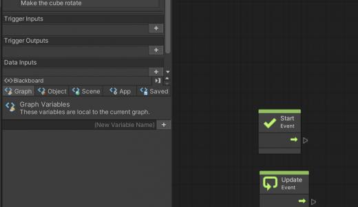 Unity Visual Scripting1 ビジュアルプログラミング1